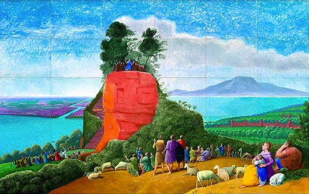 a detailed description of the sermon on the mount by claude lorrain Important art by david hockney with artwork analysis of artwork description works by hockney inspired by the sermon on the mount, claude lorrain's 1656.